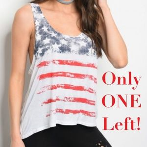Tops - 🎈3 for $15🎈American Flag Tank Top Size Large
